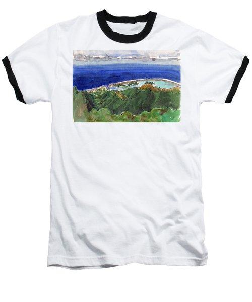 Rarotonga, View From Te Manga Baseball T-Shirt