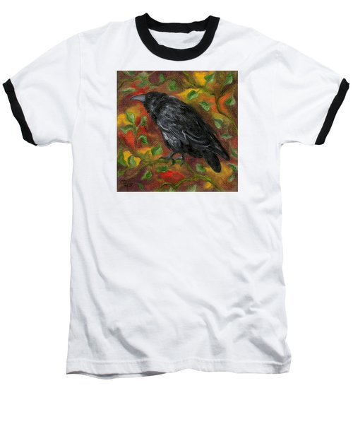 Raven In Autumn Baseball T-Shirt