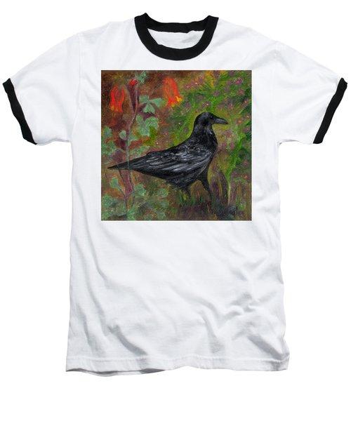 Raven In Columbine Baseball T-Shirt