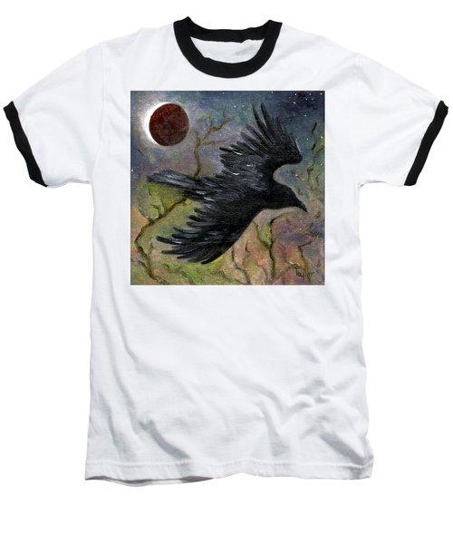 Raven In Twilight Baseball T-Shirt
