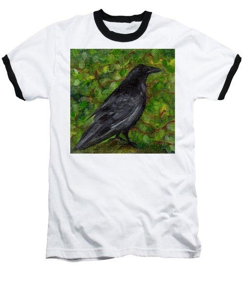 Raven In Wirevine Baseball T-Shirt