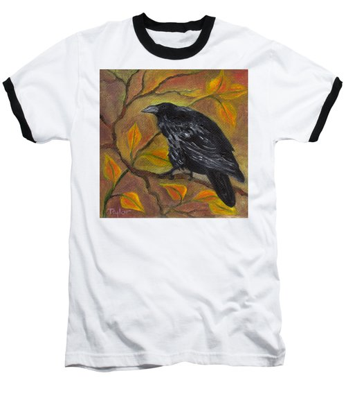 Raven On A Limb Baseball T-Shirt