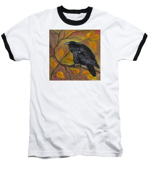 Raven On A Limb Baseball T-Shirt