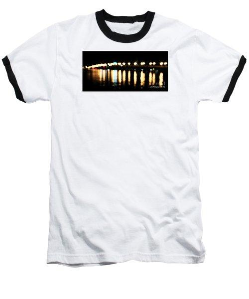 Bridge Of Lions -  Old City Lights Baseball T-Shirt by LeeAnn Kendall