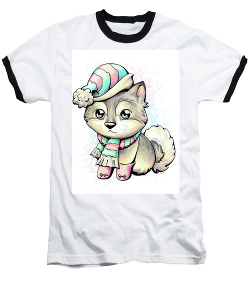 Ready For Winter Alaskan Malamute Baseball T-Shirt