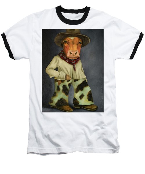 Real Cowboy 2 Baseball T-Shirt by Leah Saulnier The Painting Maniac