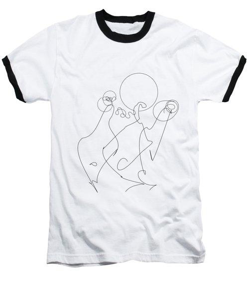 Really Loose Drawing 2 Baseball T-Shirt by Keshava Shukla