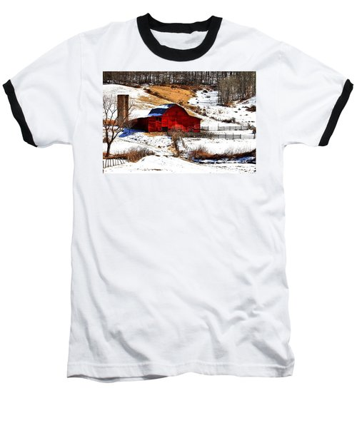 Red Barn  Baseball T-Shirt