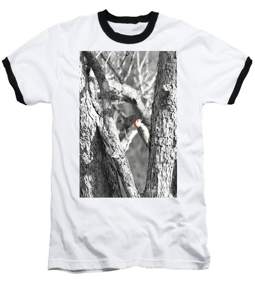 Baseball T-Shirt featuring the photograph Red-bellied Woodpecker by Benanne Stiens