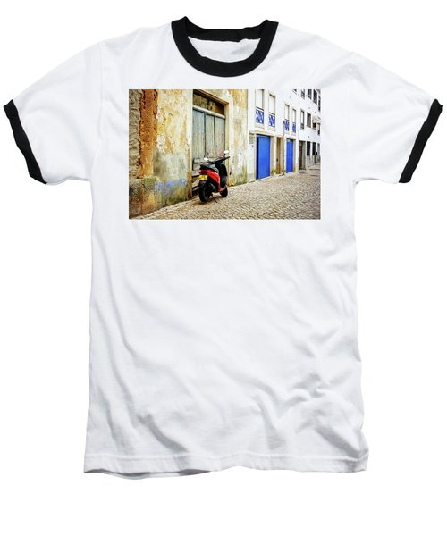 Baseball T-Shirt featuring the photograph Red Bike by Marion McCristall