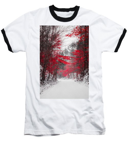 Red Blossoms  Baseball T-Shirt