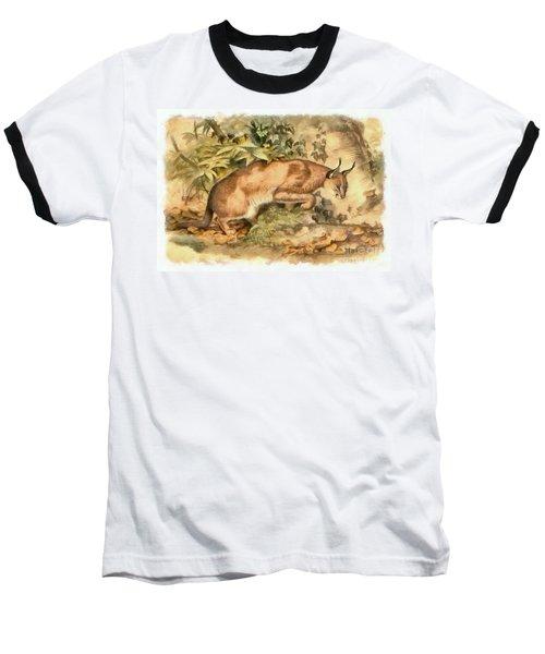 Red Caracal Baseball T-Shirt