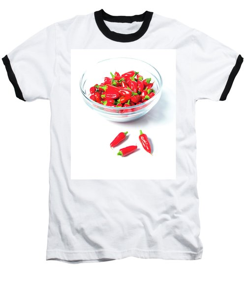 Red Chillies In A Bowl II Baseball T-Shirt