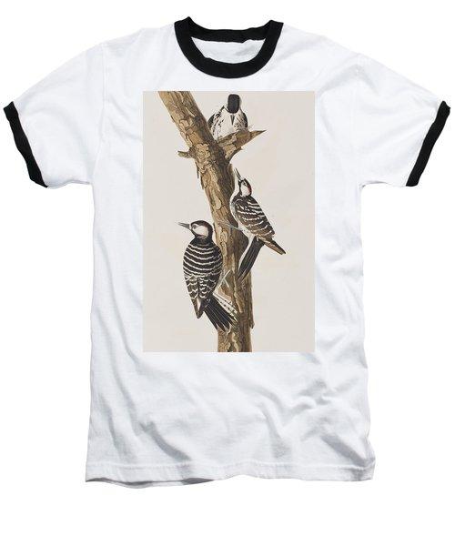Red-cockaded Woodpecker Baseball T-Shirt by John James Audubon