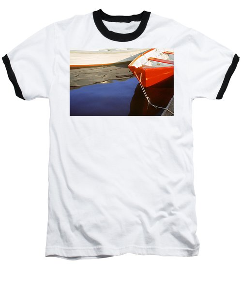 Red Dory Photo Baseball T-Shirt by Peter J Sucy