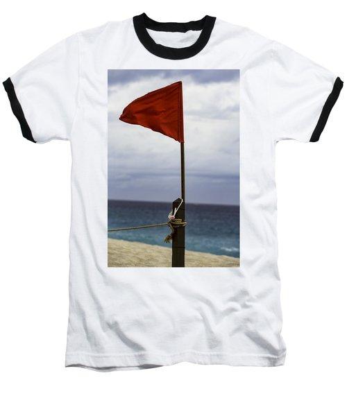 Red Flag Warning Baseball T-Shirt
