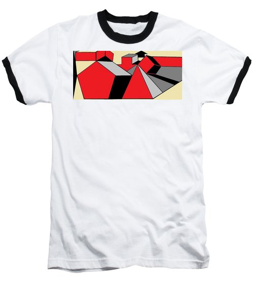 Red, Grey, Cream 2 Baseball T-Shirt
