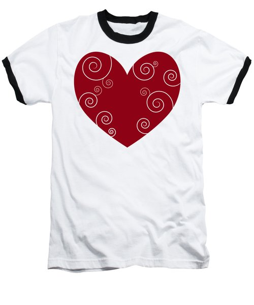 Red Heart Baseball T-Shirt by Frank Tschakert