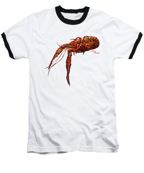 Red Hot Crawfish Baseball T-Shirt by Dianne Parks
