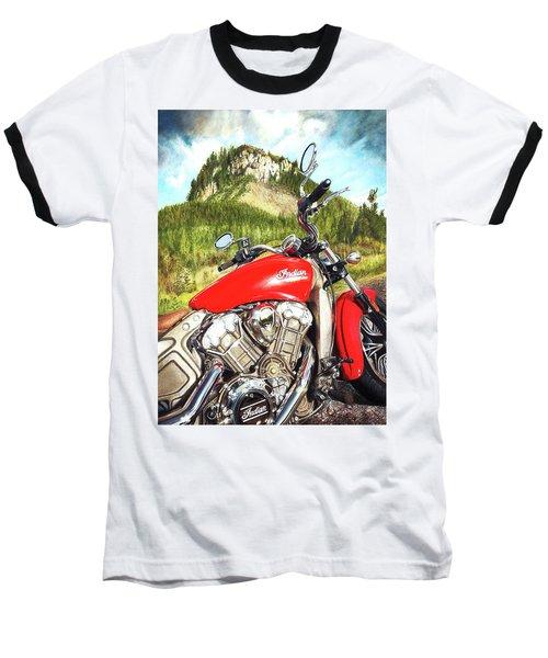 Red Indian Summer Baseball T-Shirt