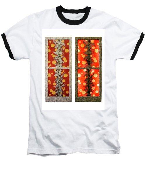 Red Light, White Line Baseball T-Shirt