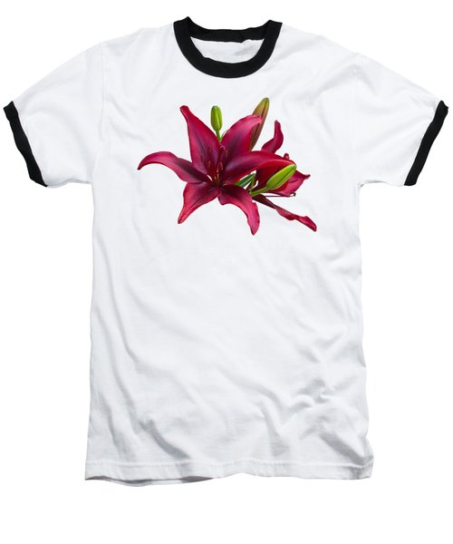Red Lilies Baseball T-Shirt