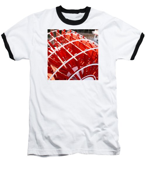 Red Paddle Wheel Baseball T-Shirt