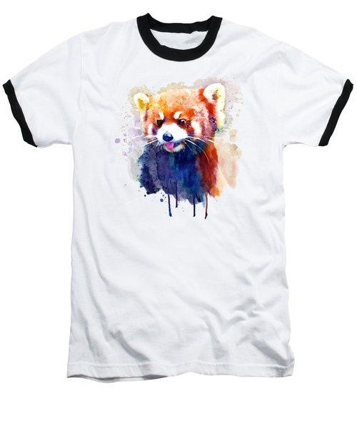 Red Panda Portrait Baseball T-Shirt