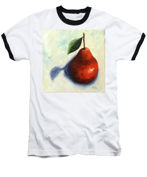 Red Pear In The Spotlight Baseball T-Shirt