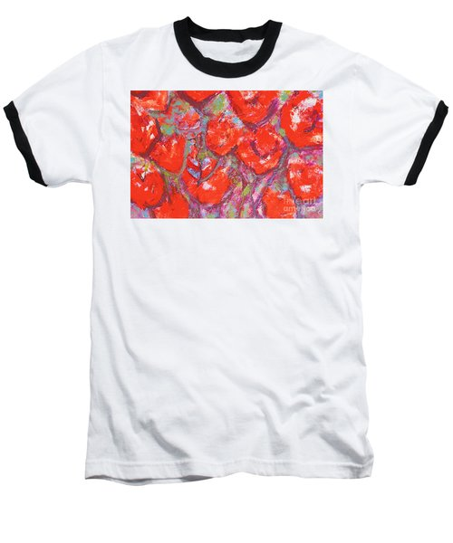 Red Poppies Baseball T-Shirt by Gallery Messina