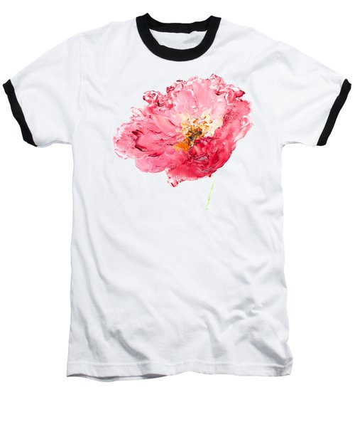 Red Poppy Painting Baseball T-Shirt by Jan Matson