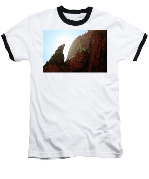 Red Rock At Zion Baseball T-Shirt
