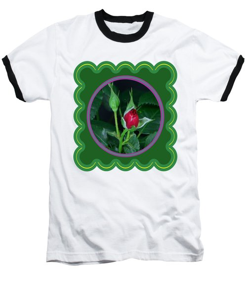 Red Rose Bud Flower Floral Posters Photography And Graphic Fusion Art Navinjoshi Fineartamerica Pixe Baseball T-Shirt