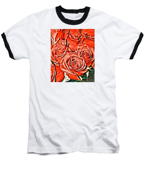 Red Roses Baseball T-Shirt