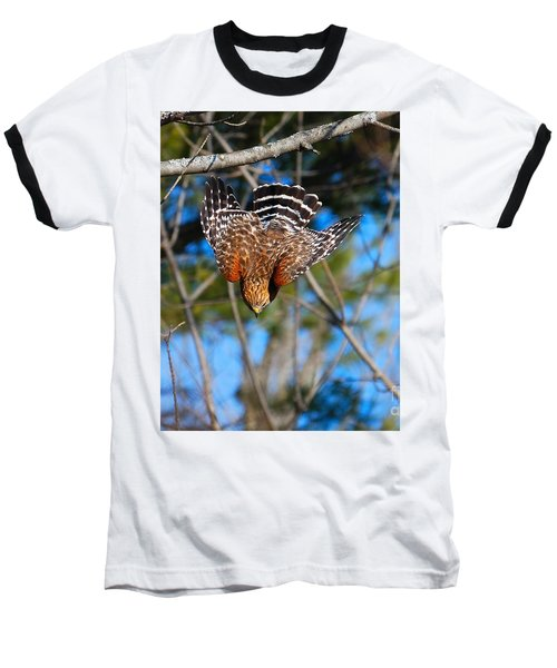Baseball T-Shirt featuring the photograph Red-shouldered Hawk  by Debbie Stahre