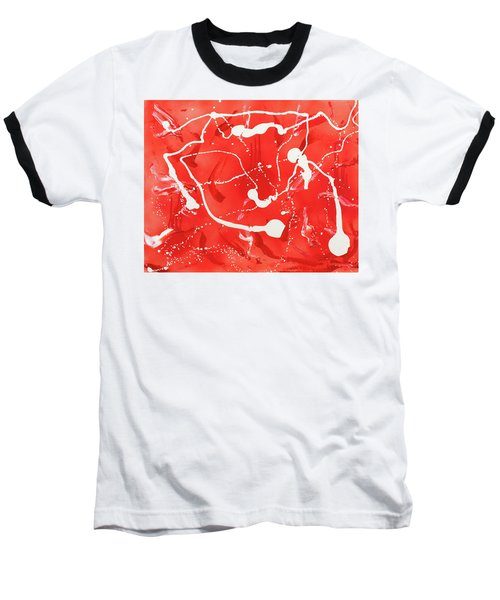 Red Spill Baseball T-Shirt