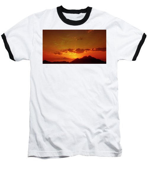 Red Sunset In Africa 2 Baseball T-Shirt