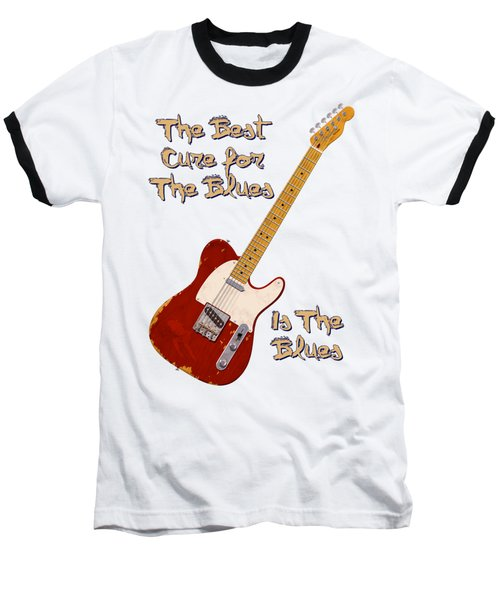 Red Tele Cure For Blues T Shirt Baseball T-Shirt