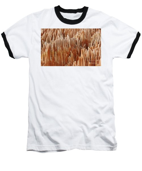 Baseball T-Shirt featuring the photograph red Tsingy Madagascar 4 by Rudi Prott