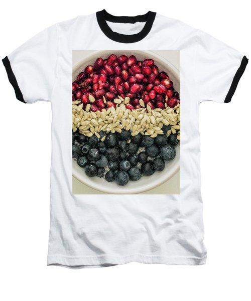 Red White Blue Power Breakfast Baseball T-Shirt