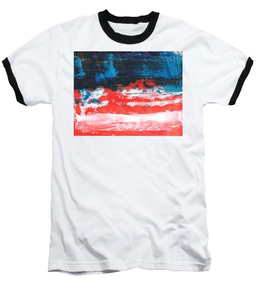 Red White Blue Scene Baseball T-Shirt