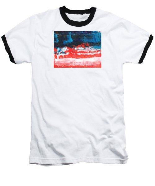 Red White Blue Scene Baseball T-Shirt