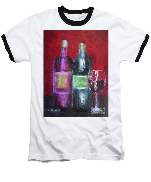 Red Wine Art Baseball T-Shirt