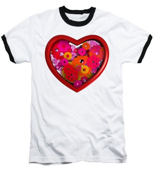 Redish Mechanical Love Baseball T-Shirt