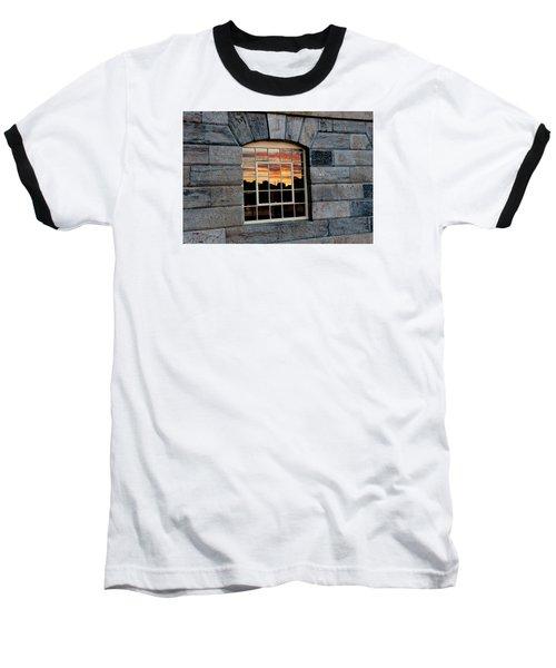 Reflected Sunset Sky Baseball T-Shirt by Helen Northcott