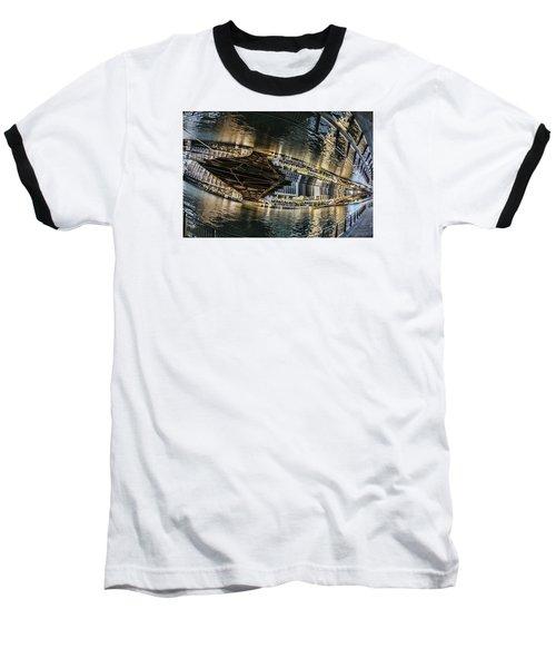 reflection fisheye on the Chicago River Baseball T-Shirt
