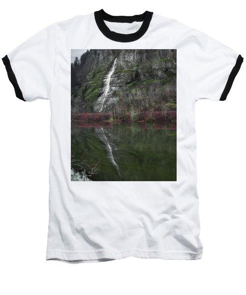 Reflection Of A Waterfall Baseball T-Shirt