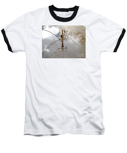 Puddle Reflections  Baseball T-Shirt