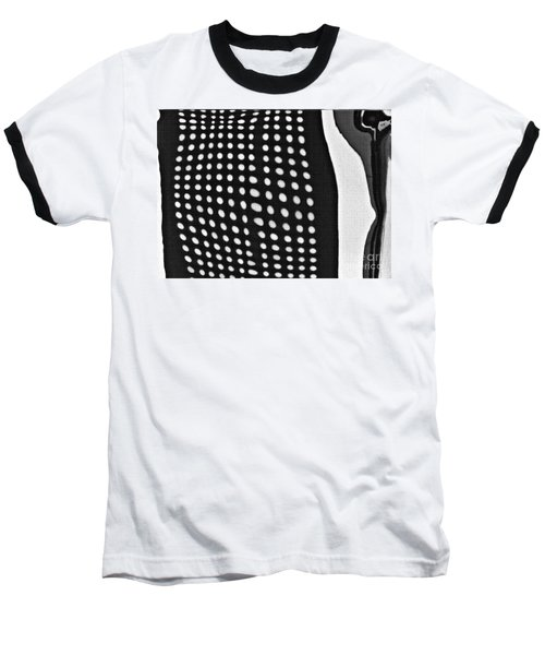 Baseball T-Shirt featuring the photograph Reflection On 42nd Street 1 Grayscale by Sarah Loft