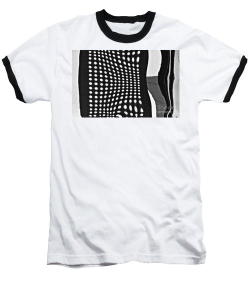 Baseball T-Shirt featuring the photograph Reflection On 42nd Street 2 Grayscale by Sarah Loft